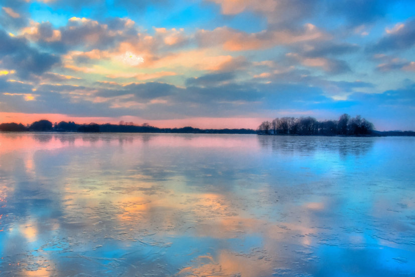 """Pastel Clouds at Sunset"" Fine Art Print - 12"" x 16"""