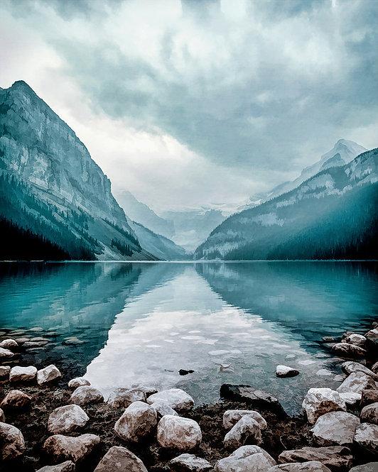 """""""Glacial Lake"""" Fine Art Print"""