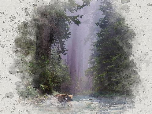 """Fording the Stream"" Fine Art Print"