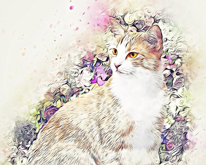 """""""Victorian Cat"""" Fine Art Print - 12"""" x 16"""""""
