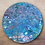 """Thumbnail: 14"""" Round Original Acrylic Pour Painting in Pastel Colors"""