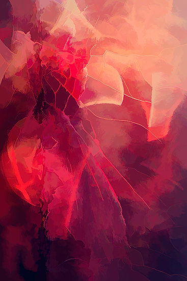 Bold and Dramatic Red Abstract Digital Download