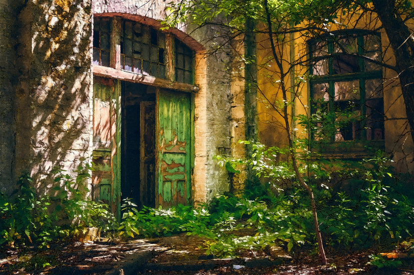 """Forgotten Entrance"" Fine Art Print - 12"" x 16"""