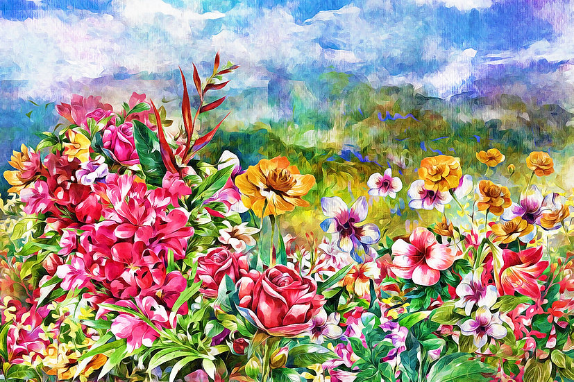 """Wildflower Meadow""Fine Art Print - 12"" x 16"""