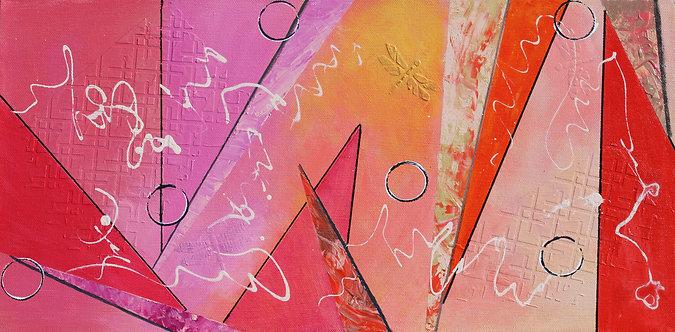 "10"" x 20"" Original Abstract Acrylic Painting - ""Counterparts"""