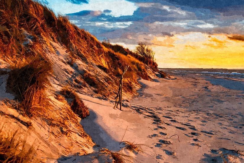 """Sunset on the Dunes"" Fine Art Print - 12"" x 16"""