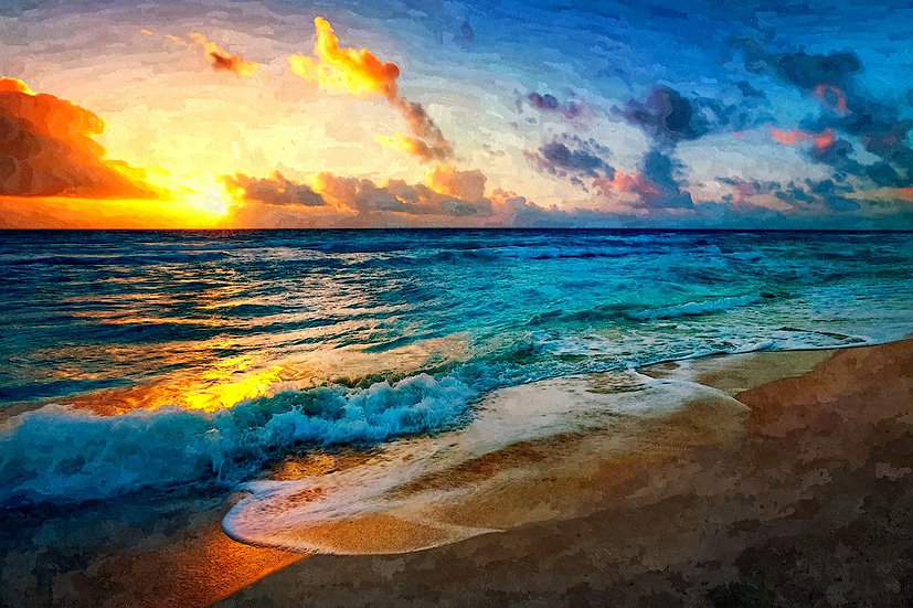 """Between Sea and Sky"" Fine Art Print - 12"" x 16"""