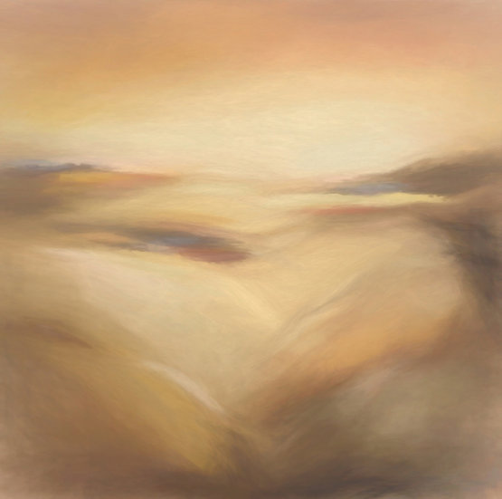 Warm Golden Abstract Desert Dunes Digital Download