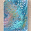 """Thumbnail: 12"""" x 16"""" Original Abstract Acrylic Pour Painting in Blue, Teal, and Gold"""