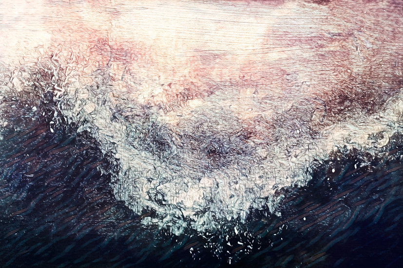 Dynamic Breaking Wave Abstract Seascape Digital Download