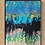 """Thumbnail: 11"""" x 14"""" Original Abstract Acrylic Pour Painting in Blue, Green and Gold"""