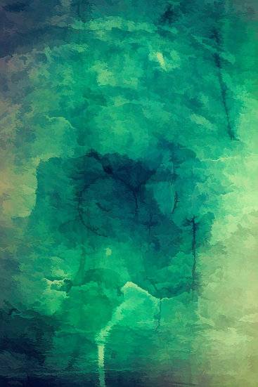 Luminous Glowing Green Abstract Painting Download