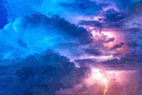 """Thunderstorm at Night"" Fine Art Print"