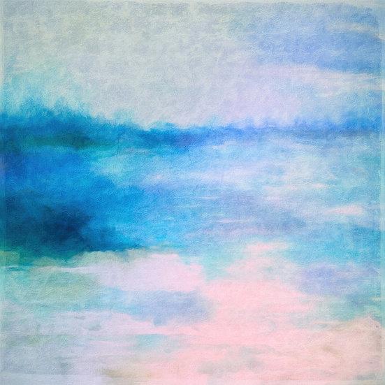 Colorful Abstract Coastal Landscape Digital Download