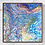 """Thumbnail: 12"""" x 12"""" Original Abstract Acrylic Pour Painting in Blue, Purple, and Green"""