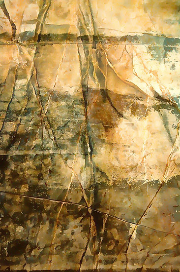 Weathered Desert Rock Face Abstract Digital Download