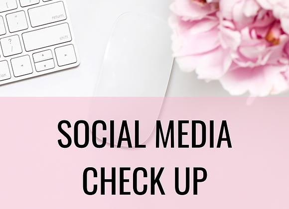 SOCIAL MEDIA CHECK UP