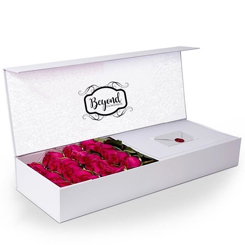 Mega-Box mit 24 Frischrosen