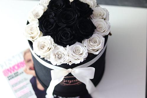 Black Samtbox L in Black & White