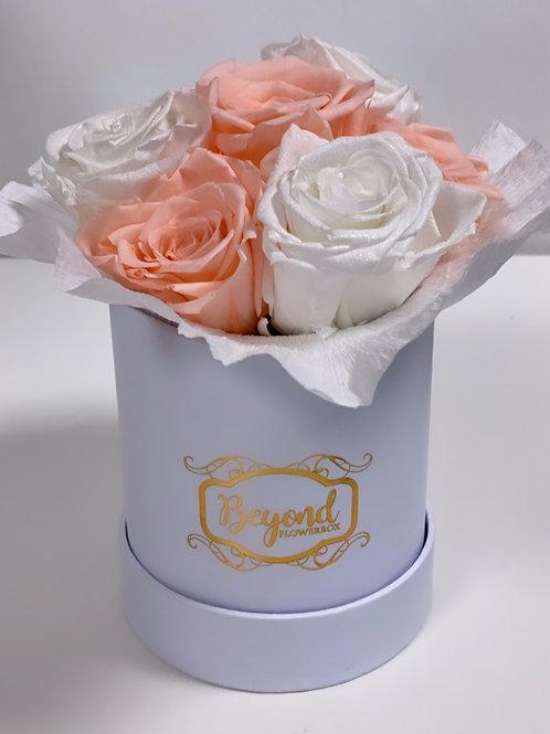 NEU: Mini-Bouquet pfirsisch-weiß
