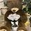 Thumbnail: Brauner Kuschel - Bär mit 1 Infinity Stielrose