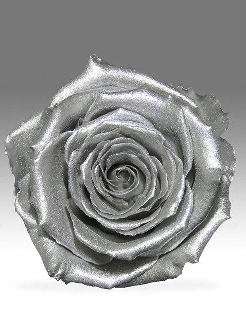 DIY Infinity Rosen in glänzendem Silber