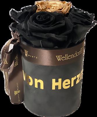 Personalisierte Flowerbox mit Samtoberfläche (Preise ab 27,- EUR)