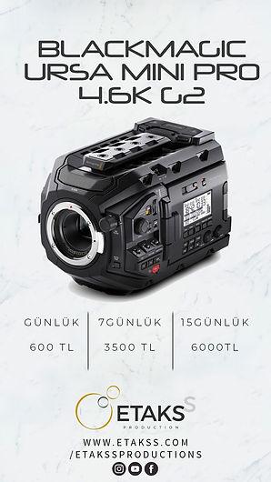 Kiralık Blackmagic Ursa mini Pro 4.6K G2