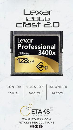 Kiralık Lexar Cfast 2.0 128 Gb