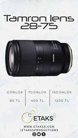 Kiralık Tamron Lens 28-75mm