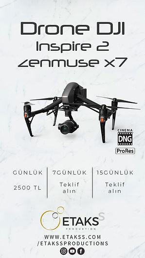 Kiralık Dji Inspire 2 Zenmuse x7