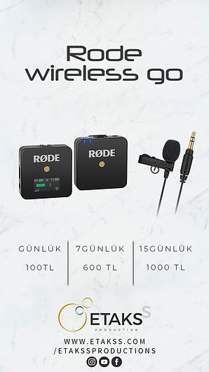 Kiralık Rode Wireless Go Yaka Mikrofunu