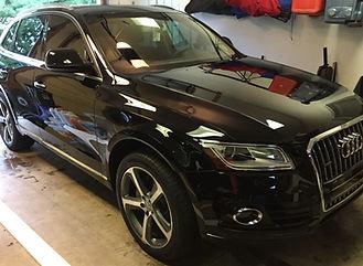 Audi exterior detail paint polish