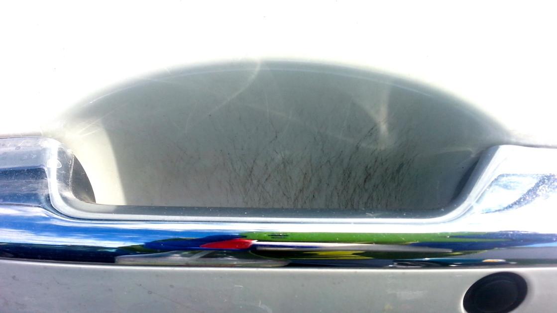 Door handle scratches before