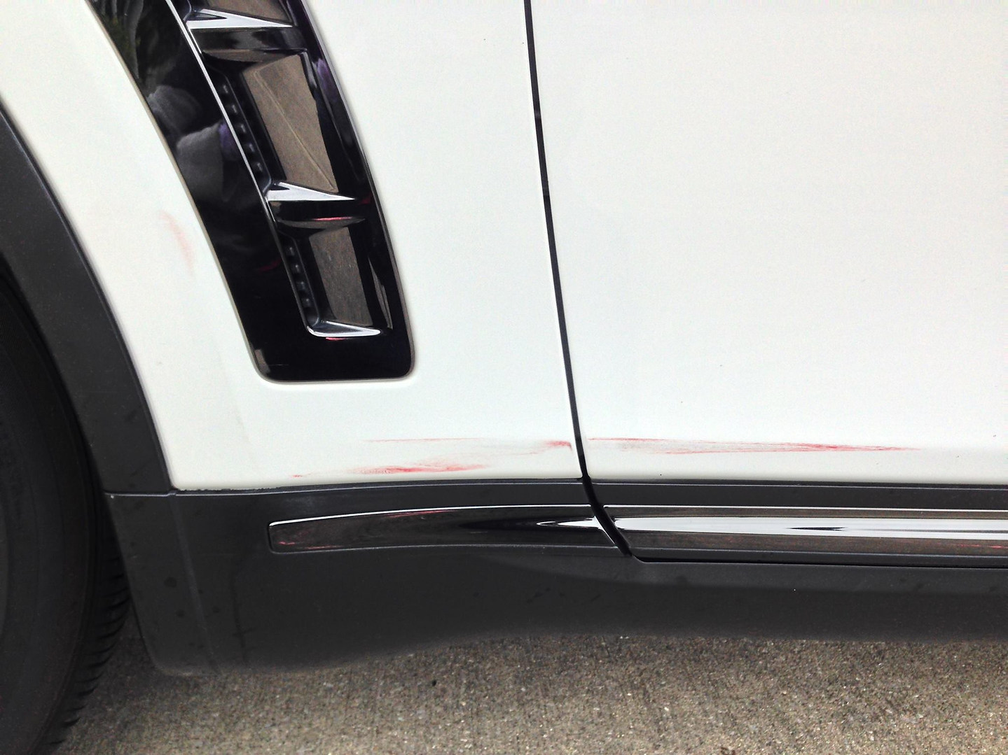 Paint transfer removal before