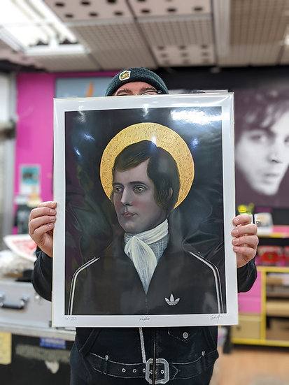 Ross Muir Limited Edition Giclee Print - Rabbie