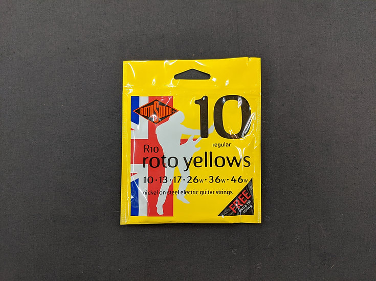 Rotosound Electric Guitar Strings R10 Roto Yellows