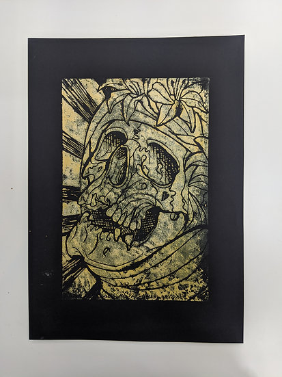 Linocut Print - Gold