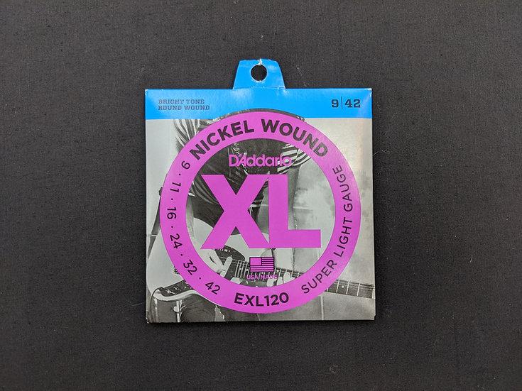 D'Addario XL Nickel Wound EXL120 Super Light Gauge