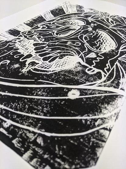 Linocut Print - Black