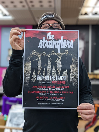 A3 Poster - The Stranglers - Back on The Tracks