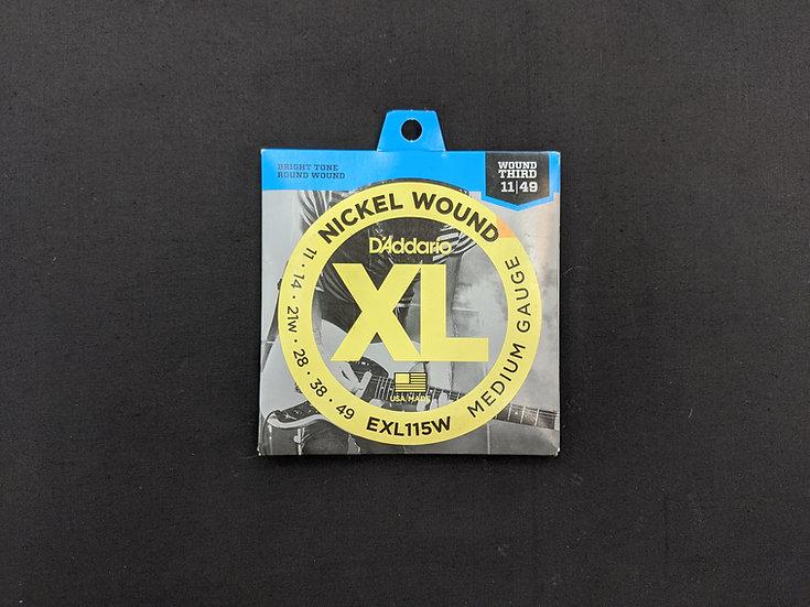 D'Addario XL Nickel Wound EXL115W Medium Gauge 11-49
