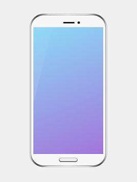 Smartphone de plata