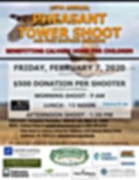 2020Pheasant Tower Shoot Flyer w Corpora