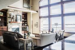 Large windowed living room