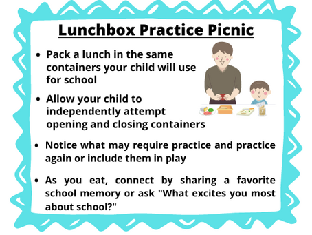 How to Teach Independence for School Lunch Time with a Practice Picnic