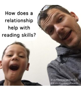 How does a relationship help with a reading skill?