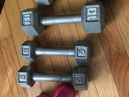 Teach addition with weights from home!