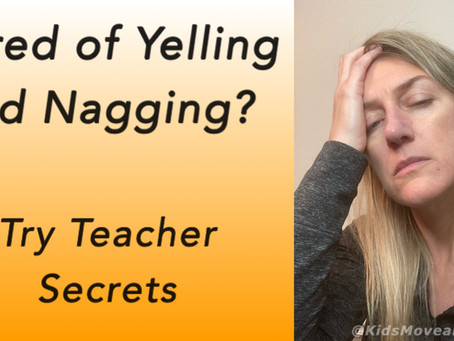 How to stop yelling an nagging your kids to listen to you. Simple teacher tips for parents