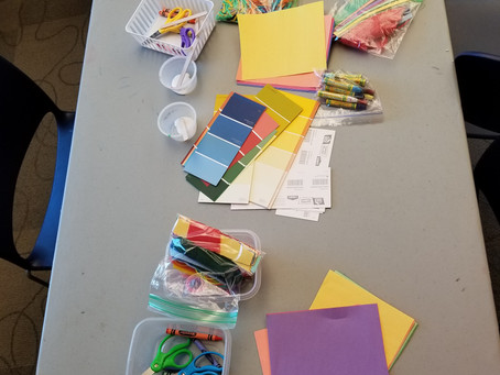Want a cheap fun gift for kids? Give them craft and art supplies!